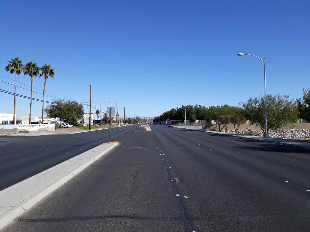 East Sunset Road, Las Vegas, NV, looking East