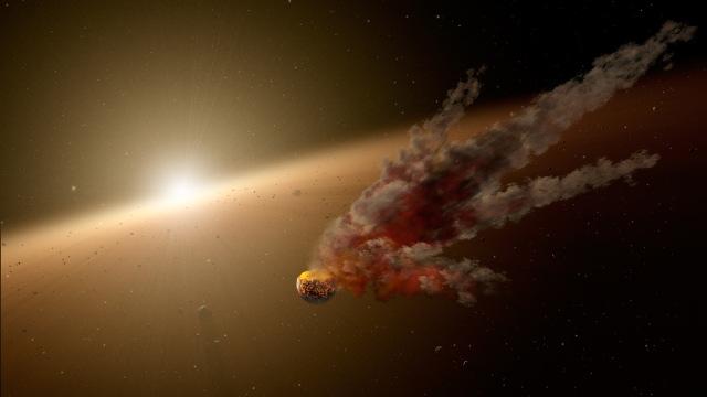 Building Planets Through Collisions (Artist's Concept) (Image Credit: NASA/JPL-Caltech)