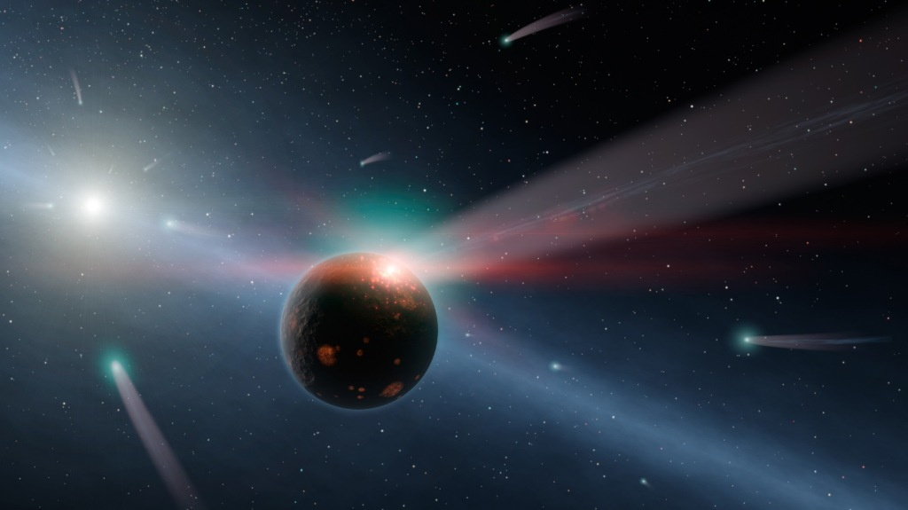 It's Raining Comets (Artist's Concept) (Artist's Concept) (JPL Image Library, Image Credit: NASA/JPL-Caltech)