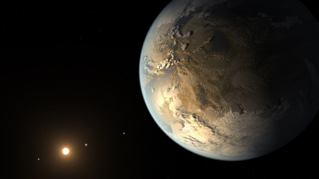 Kepler-186f, the First Earth-size Planet in the Habitable Zone (Artist's Concept) (Image Credit: NASA/Ames/SETI Institute/JPL-Caltech)