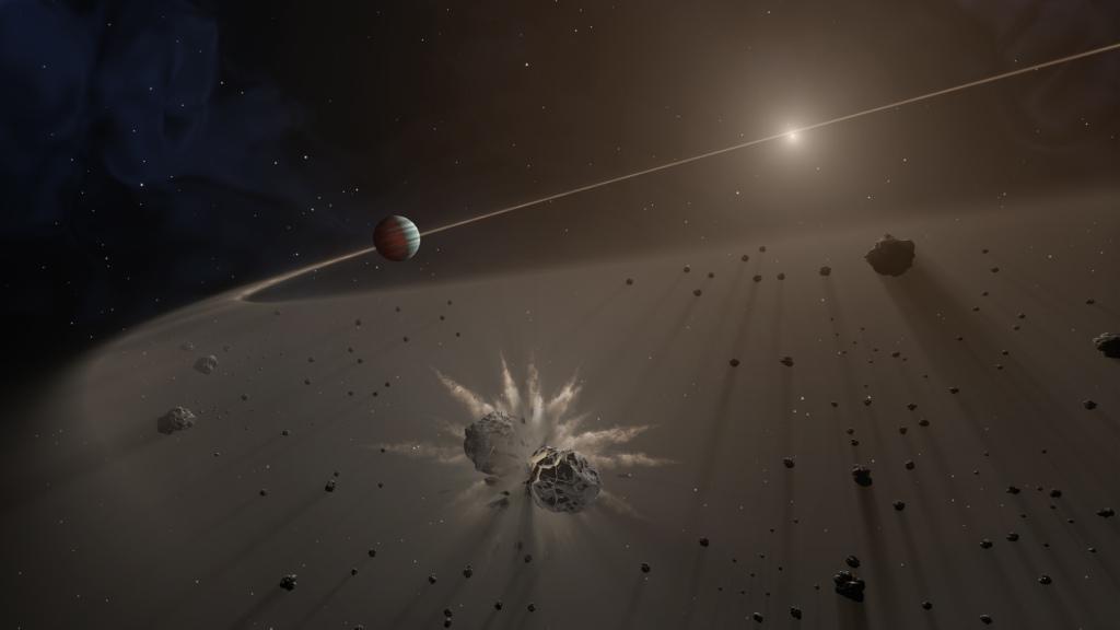 Giant Exoplanet and Debris Disk (Artist's Concept) (Image Credit: NASA/JPL-Caltech)