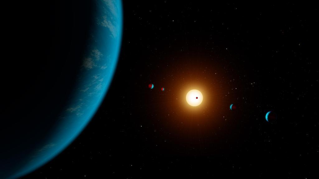 K2-138 6 Planets Artwork (Artist's Illustration) (Image Credit: NASA/JPL-Caltech/R. Hurt (IPAC))