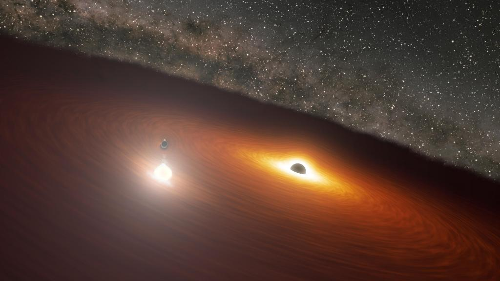 Animation of Black Hole Disk Flare in OJ 287 (Image Credit: NASA/JPL-Caltech)