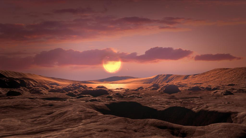 Kepler Planet 1649c Artist's Illustration From Space (Image Credit: NASA/Ames Research Center/Daniel Rutter)