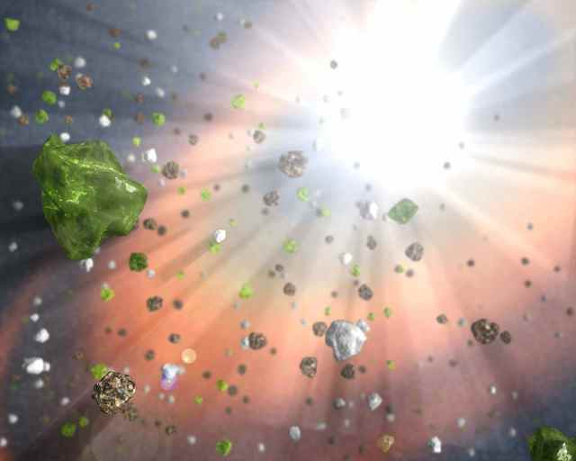 Dust in the Quasar Wind (Artist Concept) (Image Credit: NASA/JPL-Caltech)