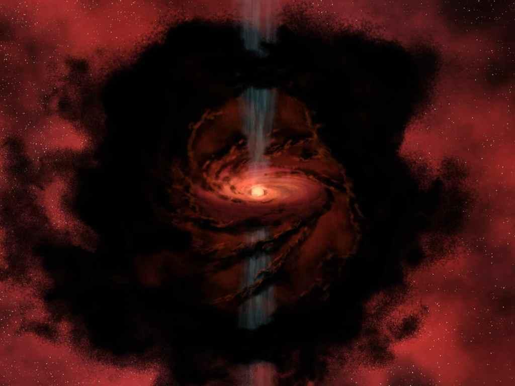 Dusty Beginnings of a Star (Image Credit: NASA/JPL-Caltech)