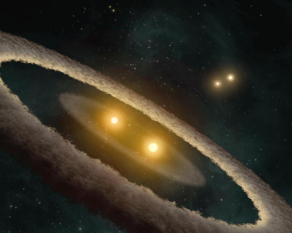 Evidence for Strange Stellar Family (Artist Concept) (Image Credit: NASA/JPL-Caltech/UCLA)