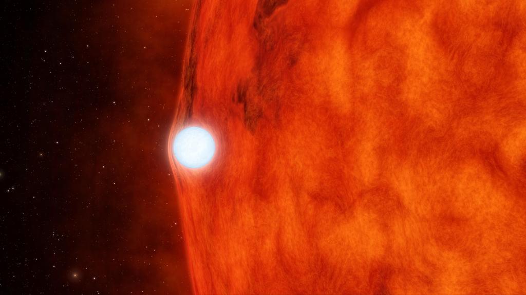 Dead Star Warps Light of Red Star (Artist's Animation) (Image Credit: NASA/JPL-Caltech)