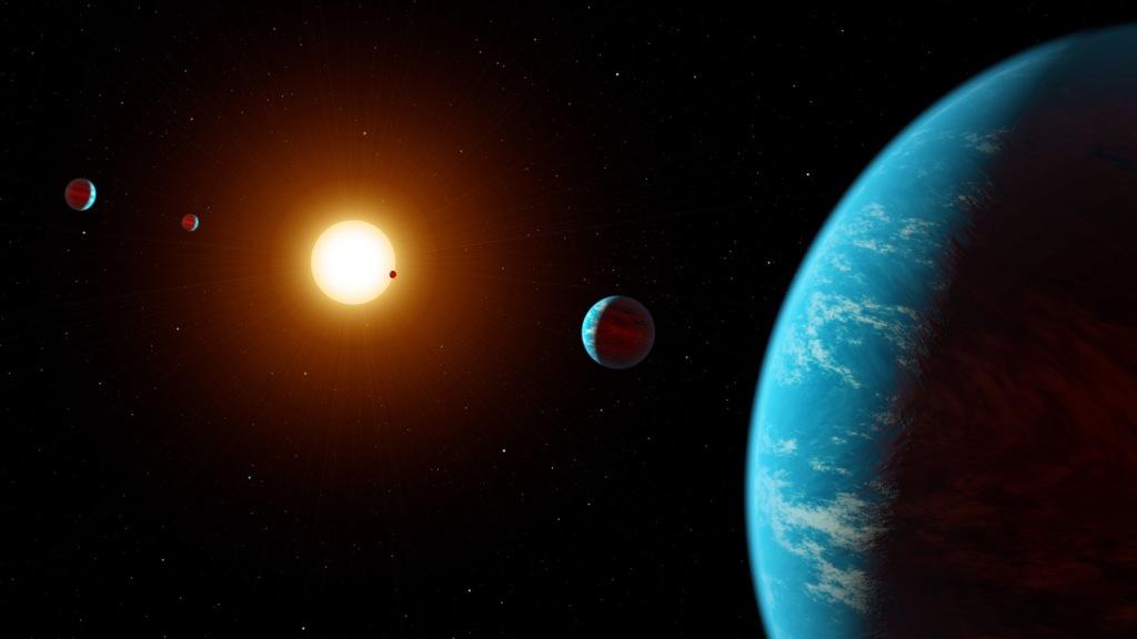 Kepler K2-138 System (Artist's Concept) (Image Credit: NASA/JPL-Caltech)