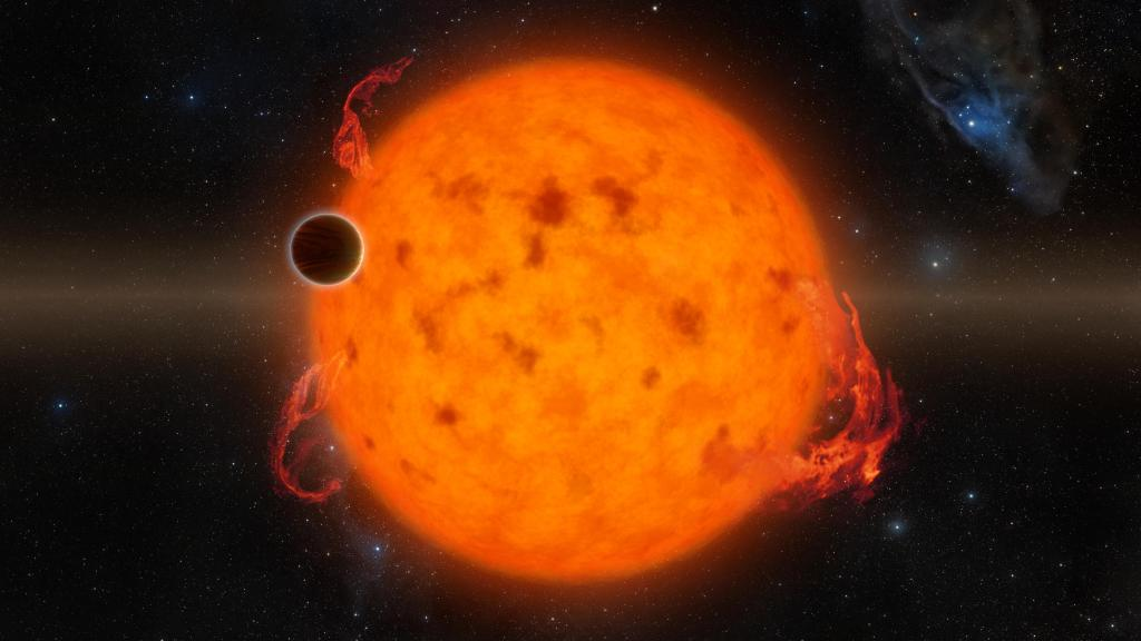Exoplanet Orbits Youthful Star (Artist's Concept) (Image Credit: NASA/JPL-Caltech)