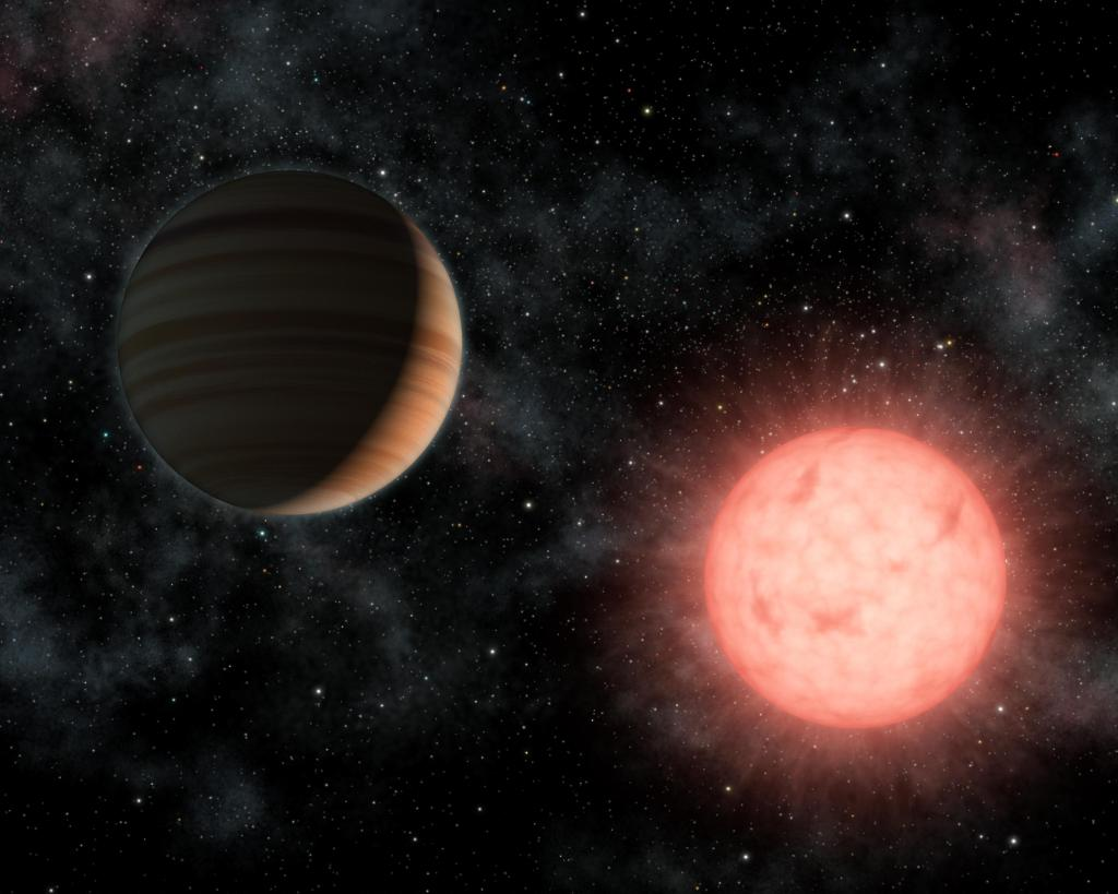 A Planet as Big as its Star (Artist Concept) (Image Credit: NASA/JPL-Caltech)
