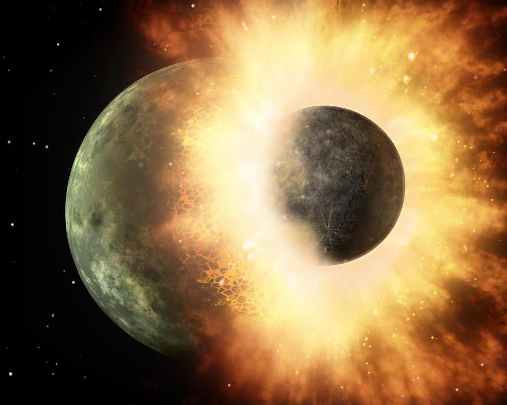 Planetary Demolition Derby (Artist Concept) (Image: NASA/JPL-Caltech)