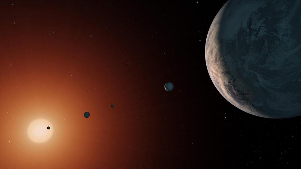 TRAPPIST-1 System - Artist Concept (Image Concept: NASA/JPL-Caltech)