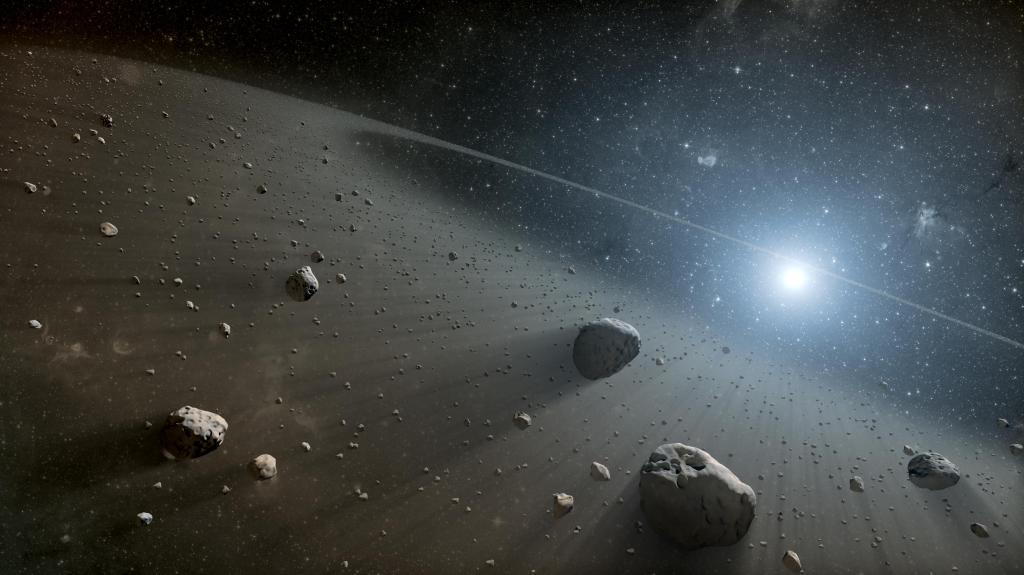 Rocky Ring of Debris Around Vega (Artist Concept) (Image Credit: NASA/JPL-Caltech)