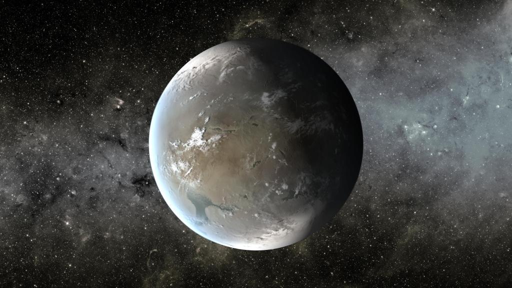 Kepler-62f, a Small Habitable Zone World (Artist Concept) (Image Credit: NASA/Ames/JPL-Caltech)