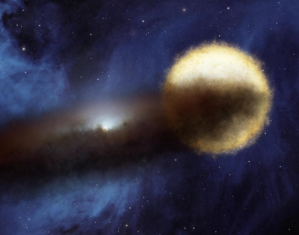 Mystery of the Fading Star (Artist Concept) (Image Credit: NASA/JPL-Caltech)