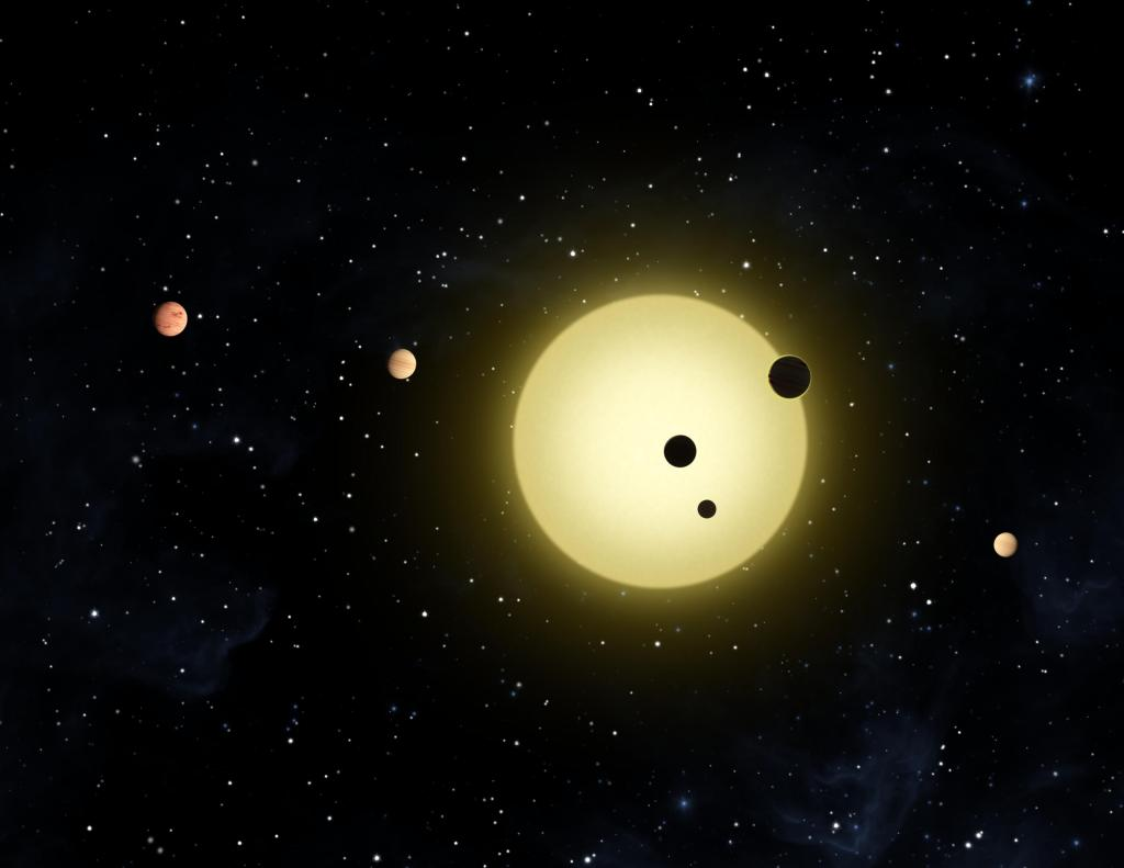 Kepler-11 Planetary System (Artist Concept) (Image Credit: NASA/Ames/JPL-Caltech)