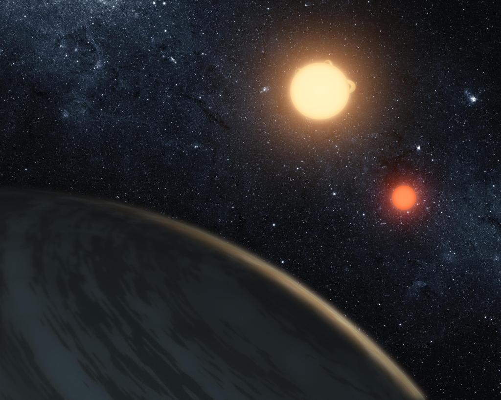 Three Eclipsing Bodies (Artist Concept) (Image Credit: NASA/JPL-Caltech)